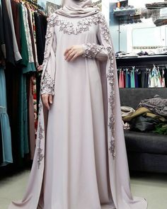 Wedding gown hijab style New ideas Wedding Abaya, Muslimah Wedding Dress, Muslim Wedding Dresses, Muslim Dress, Muslim Brides, Dress Wedding, Wedding Bride, Wedding Ideas, Abaya Designs