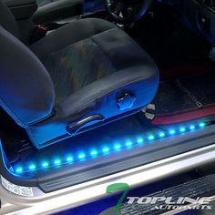 "2X 36"" 2X 48"" 7 Color Interior Car Kit LED Lights Strip Music System Universal 