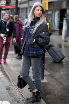 Sarah Harris in PAIGE Denim London Fashion Week