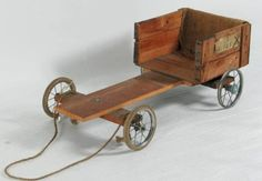 "Wooden Go-Cart - A lot of boys made their own 'steary' ""go-carts"" from old pram wheels and wood. Girls weren't included in these activities! 1970s Childhood, My Childhood Memories, Childhood Toys, Great Memories, School Memories, My Memory, Old Toys, The Good Old Days, Wood And Metal"