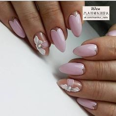 30 Ideas French Manicure Almond Shape Classy For 2019 Almond Acrylic Nails, Almond Nails, Manicure, Diy Nails, Glitter Nails, French Nails, French Polish, Acrylic Nail Shapes, Gel Nagel Design