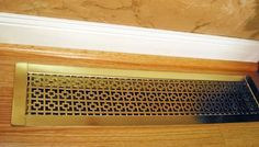 This style is the Drop-In Floor Grille in the Chain Link design and the Bright Brass plated finish