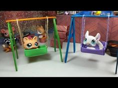 Easy DIY Custom LPS Doll Accessories: How to Make a Tiny Swing set - YouTube