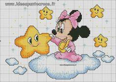Schemi disney a punto croce: schemi baby minnie e topolino Cross Stitch Baby, Cross Stitch Kits, Cross Stitch Charts, Cross Stitching, Cross Stitch Embroidery, Embroidery Patterns, Hand Embroidery, Baby Mickey Mouse, Disney Cross Stitch Patterns