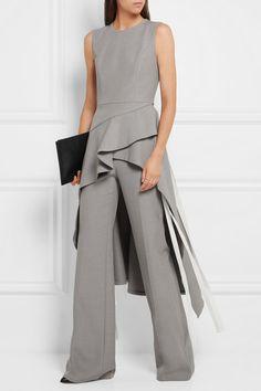 Adeam | Chambray wide-leg pants | NET-A-PORTER.COM