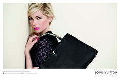 Michelle Williams returns as the face of Louis Vuitton, shot by Peter Lindbergh and styled by Carine Roitfeld.