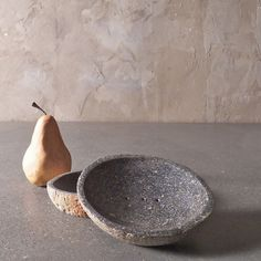 River rock planters & bowls | Artefact Design & Salvage   Something about these is very pleasantly Rivenese to me.