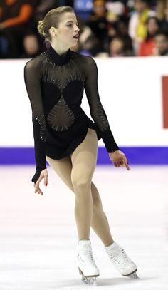 Carolina Kostner  -Black Figure Skating / Ice Skating dress inspiration for Sk8 Gr8 Designs.