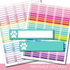 Dog stickers, Dog planner stickers, Dog printable stickers, Dog sticker, Cat…