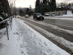 Tuesday morning snow in New Westminster and Burnaby made driving problematic for many drivers. Tuesday Morning, Westminster, Snow, City, Outdoor, Outdoors, Cities, Outdoor Games, The Great Outdoors