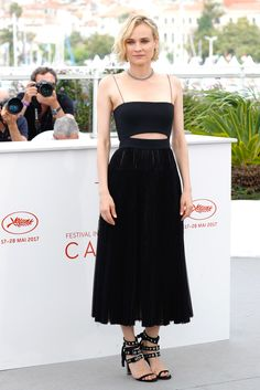 The 2017 Cannes Best-Dressed: Day 10, Diane Kruger at the photocall for 'In The Fade' (Aus Dem Nichts) during the Festival.  Photo: Getty