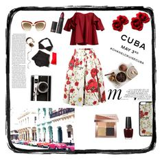 Hot Cuba by sanidaskrebo on Polyvore featuring Anna October, Dolce&Gabbana, Casetify, Bobbi Brown Cosmetics, Lipstick Queen, Vichy, Whiteley, Chanel and cuba