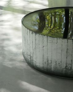 Black glass sculpture by Roni Horn