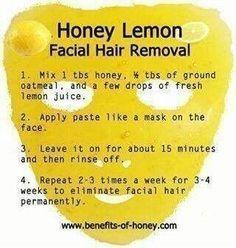 natural facial hair removal recipe