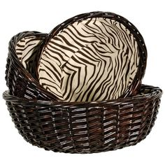 I pinned this 3 Piece Zaharra Basket Set from the Out of Africa event at Joss and Main!