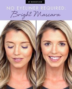 Black mascara is an eye makeup essential, but we're also loving the cool, pretty look you get when you use a bright, colorful mascara. We'll show you the perfect eye makeup look that doesn't require eyeliner, just mascara.
