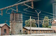 TrainScape: Diorama basado en Vadollano. 51 Model Trains, Comfort Zone, Locomotive, Decoration, Utility Pole, Scenery, Dioramas, Model Train, Figurines