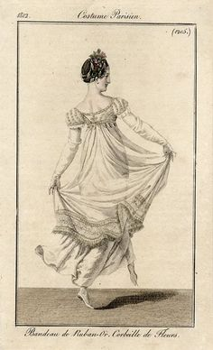1812 Costume Parisien fashion plate