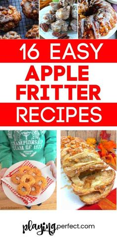 Baked apple fritter recipes, apple fritter donuts, the best apple fritter recipes! These homemade apple fritter recipes will show you how to make apple fritters! Simple apple fritter recipes are here! Easy Apple Fritters Recipe, Baked Apple Fritters, Apple Fritter Recipes, Apple Recipes, Fall Recipes, Holiday Recipes, Great Recipes, Favorite Recipes, Easy To Make Desserts