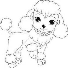 Poodle Coloring Pages