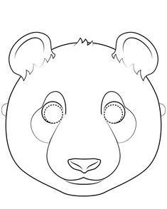 Mascaras de animales para colorear | Bebeazul.top Panda, Kids Rugs, Symbols, Letters, Crafts, Masks, Decor, Art, Baby Things