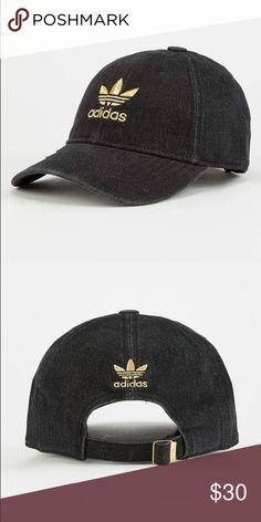 b61e10e1a2 Adidas Original relaxed denim dad baseball hat Embroidered adidas Trefoil  logo Cotton New adidas Accessories Hats