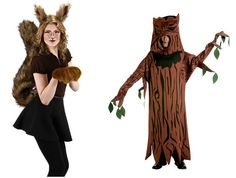Squirrel and Tree Couples Costume.  #Halloween #Costumes #HalloweenCostumesForFamily Sherman Financial Group