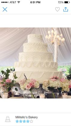 This is the biggest wedding cake I have ever seen... One word WOW