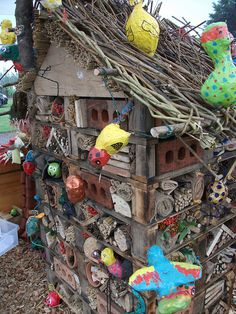 Bug hotel open for business by environmentalartworks, via Flickr