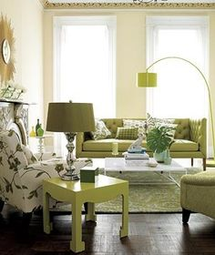 Embrace robust colors. (Green has actually been shown to create a sense of calm and comfort.) | Surprising, low-cost ways to update your home décor.