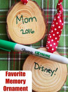 Favorite memory ornaments - great Christmas DIY to make