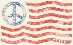 ☮ American Hippie ☮  American Flag .. Peace