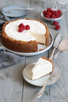 American Cheesecake mit Schmand Topping Bake to the roots Easy Cheesecake Recipes, Easy Cake Recipes, Healthy Dessert Recipes, Health Desserts, Easy Desserts, Easy Vanilla Cake Recipe, Chocolate Cake Recipe Easy, Chocolate Recipes, Chocolate Buttercream