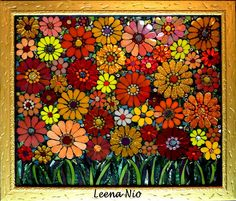 Mosaic Flowers by Leena Nio