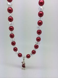 Christmas necklace with girl.