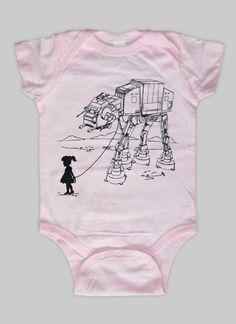 My Star Wars ATAT Pet  Baby Onesie Bodysuit  Star by ironspider, $15.00