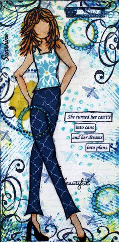 Altered Mixed Media Canvas - Scrapbook.com