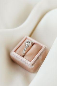 Addison | 6.5mm White Gold | #classic #simple #vintage Moissanite Diamonds, Moissanite Rings, Diamond Art, Diamond Rings, Olive Avenue Jewelry, Deco Engagement Ring, Jewelry Companies, Brilliant Diamond, Wedding Sets