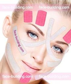 Face Lift Tape, Face Care, Skin Care, Face Fat Loss, Facial Anatomy, Kinesiology Taping, Face Exercises, Face Yoga, Derma Roller