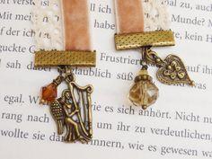bookmark velvet angel with harp   bronze by KINGkerlitz on Etsy, €12.90