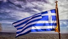 National Flag of Greece Greek Quotes About Life, Greece Painting, Greek Flag, Greece Photography, Greek Beauty, Chios, Greek History, Greek Culture, Orthodox Icons