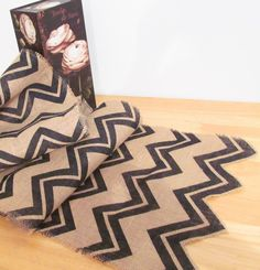 Chevron Burlap Rustic Wedding Table Runner от supplierofdreams