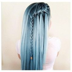 Blue hairstyle