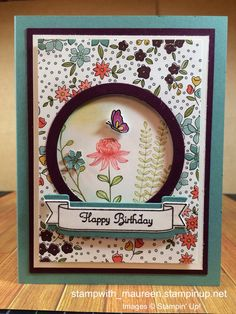 Pals Paper Crafting Card Ideas Maureen Reardon Mary Fish Stampin Pretty StampinUp by maggie Making Greeting Cards, Greeting Cards Handmade, Butterfly Cards, Flower Cards, Paper Flowers, Handmade Birthday Cards, Happy Birthday Cards, Karten Diy, Stamping Up Cards