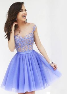 Hot Sales Open Back Lavender Lace Tulle Short Prom Dress Homecoming Dress Beadings Party Dresses Ball Gowns from