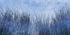 Blue Grass Silhouette - Fotobehang & Behang - Photowall
