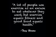 Some wisdom from Tony Horton.