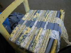 Chair Weaving Tutorial, maybe I can do this is red's and white's to replace vinyl strapping on my chairs, or all in drop cloth or burlap