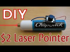How to Make a Laser Pointer Stem Projects, Science Projects, Projects To Try, Science Crafts, Hobby Electronics, Electronics Projects, Cell Phone Hacks, Diy Crossbow, Spy Gadgets