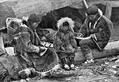 Inuit Family. Source and date unknown.